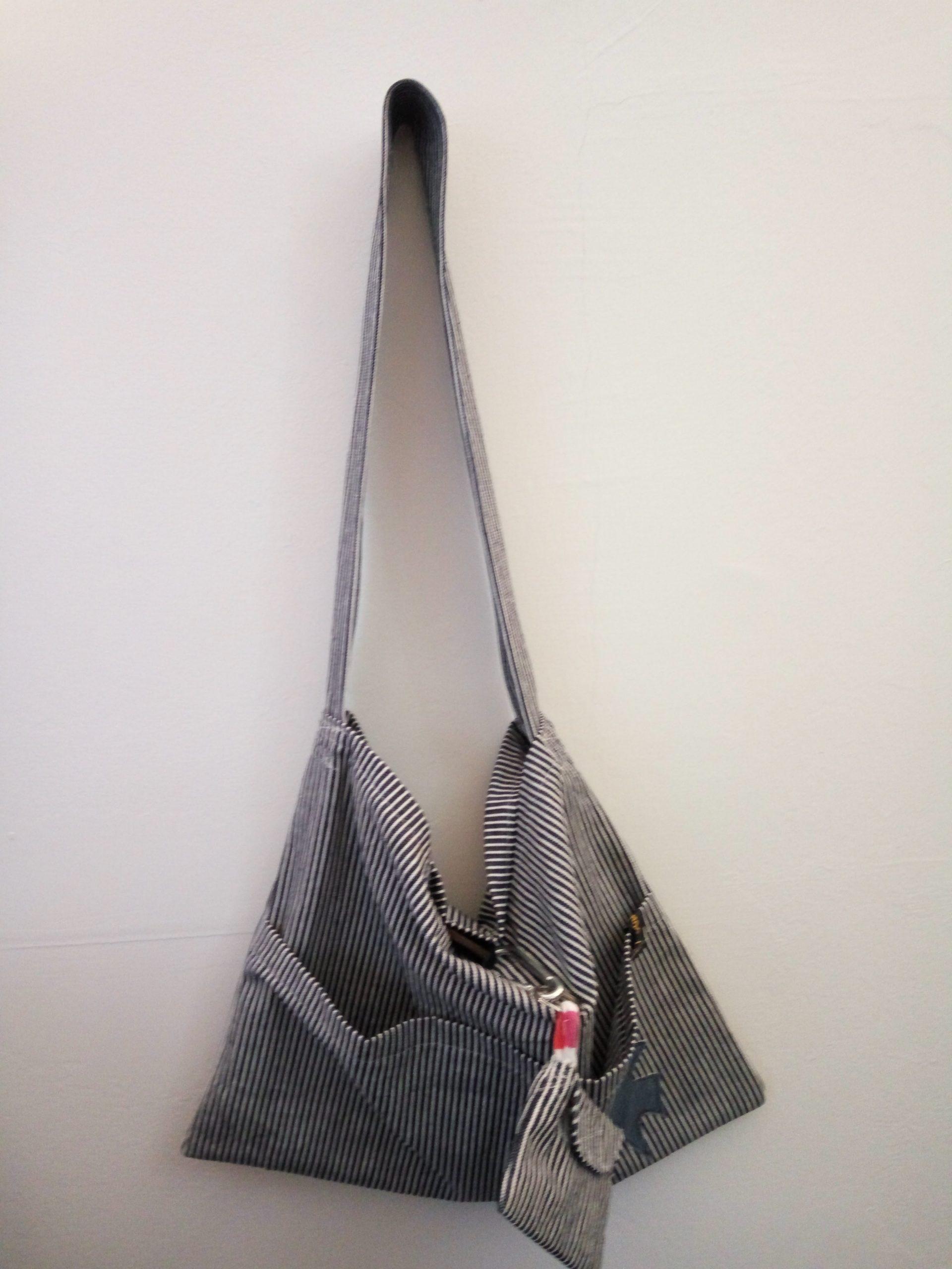 Kinderwagentasche blau / weiß mit kleiner Börse