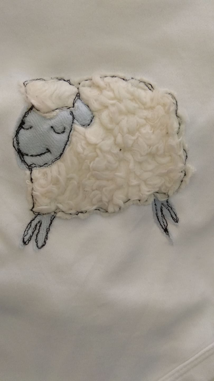 Schaf- Applikation für Bodys, Shirts oder Kissen
