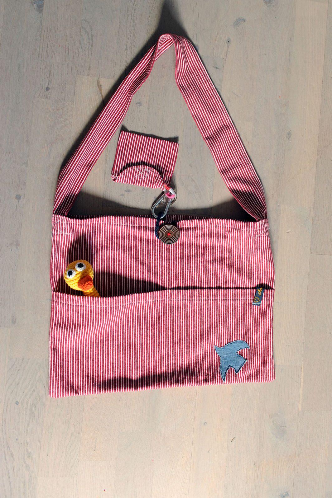 Kinderwagentasche rot/weiß mit kleiner Börse
