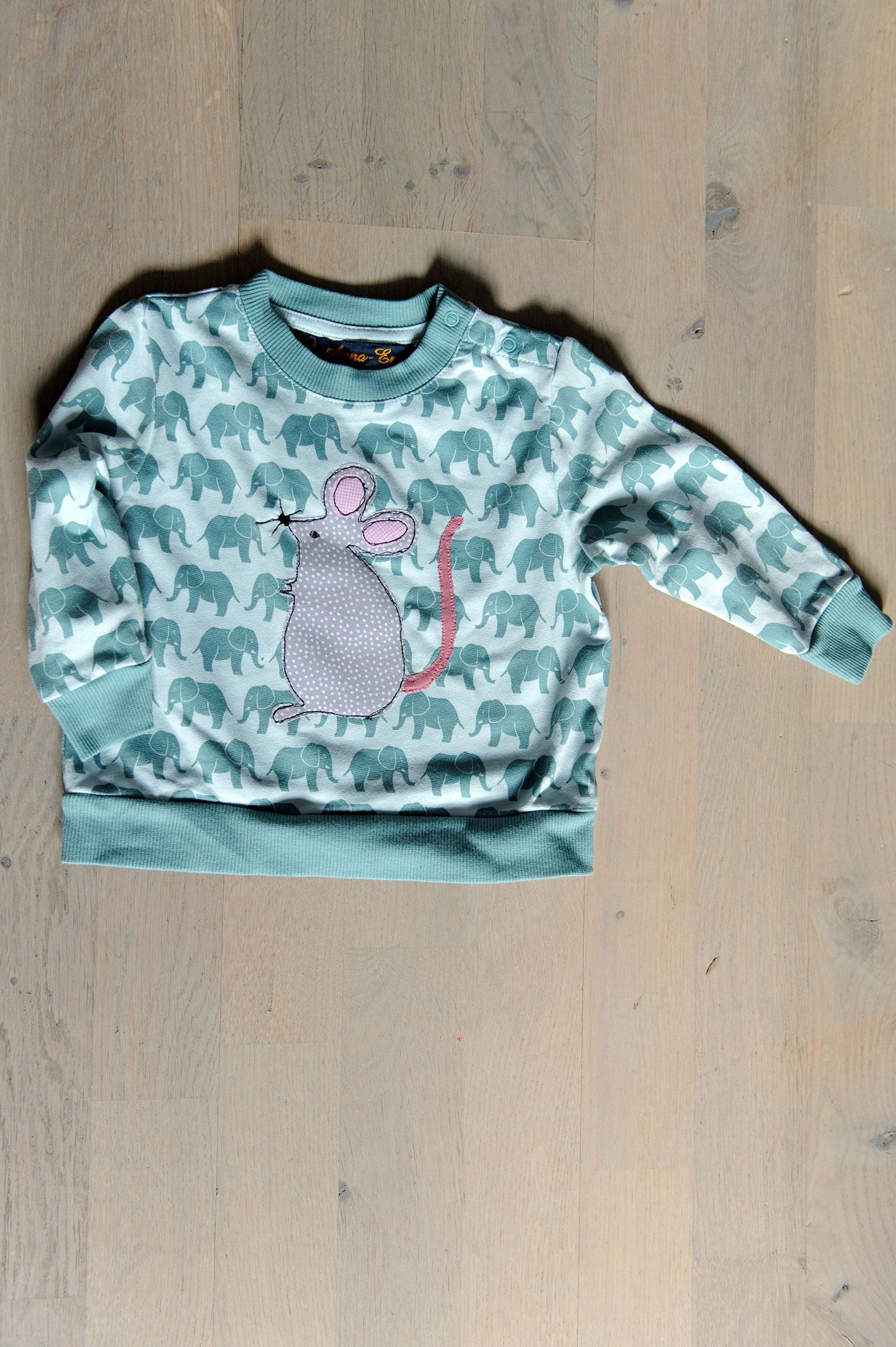 Maus- Shirt aus Bio-Baumwolle Gr. 74